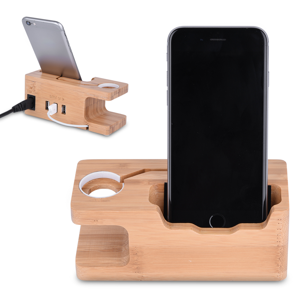 wooden iphone docking station multi wooden charging dock station 3 usb charger holder 16526