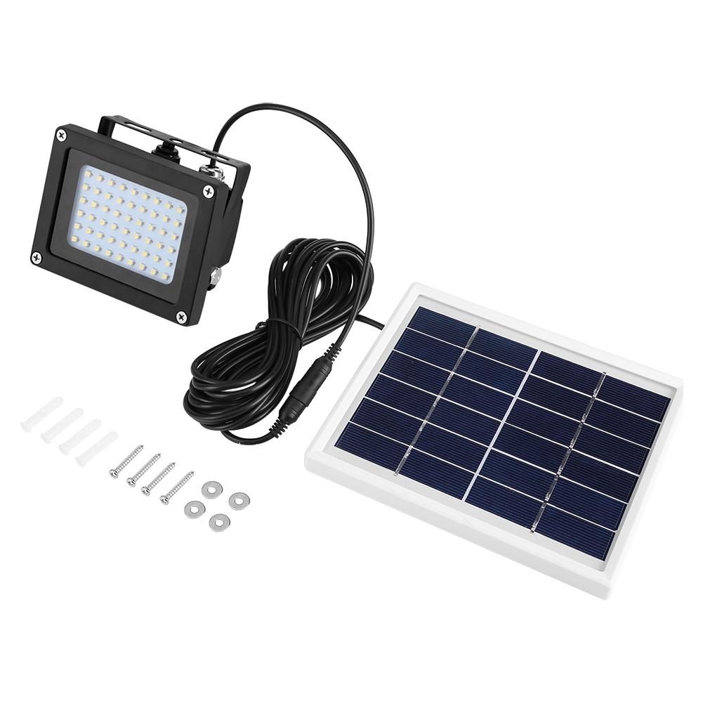 54 Led Solar Panel Floodlight Waterproof Night Sensor