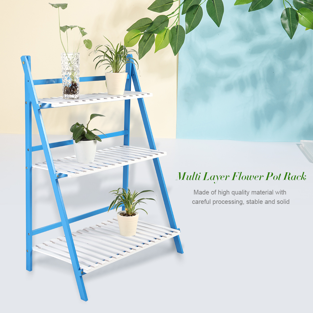 3 Tier Bamboo Flower Plant Pot Display Stand Shelves Rack Storage ...