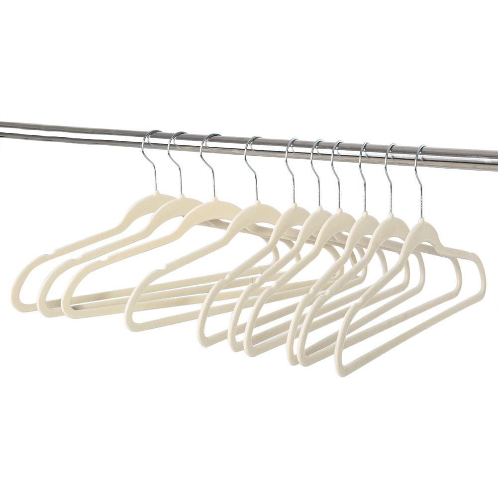 Kleiderbügel Beflockt 20 100pcs rutschfest beflockt kleiderbügel mit samt anzugbügel bügel