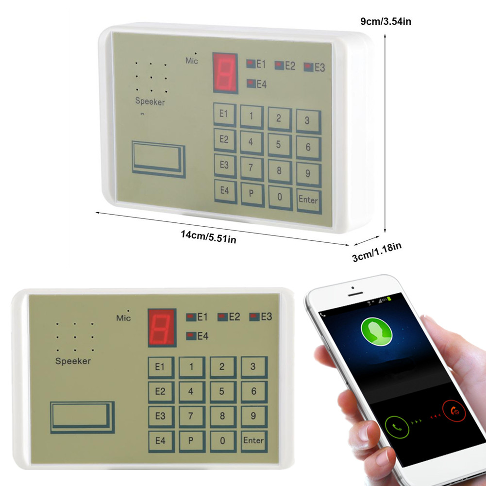 12v Phone Wired Voice Auto Dialer Burglar Security House Alarm System 20 Second