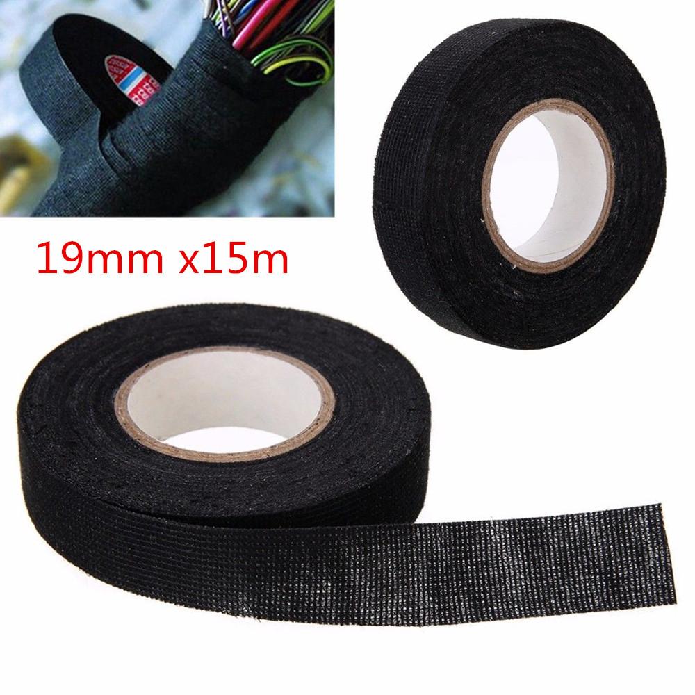19mmx15m MultiPurpose Self Adhesive Anti Squeak Rattle Felt Wiring Harness  Tape
