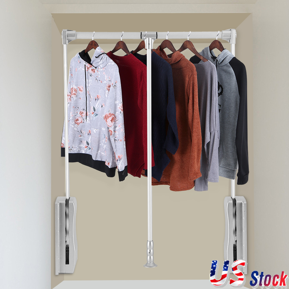 out closets and pant from rev rack informal rod bar for valet s down a hooks closet g pull
