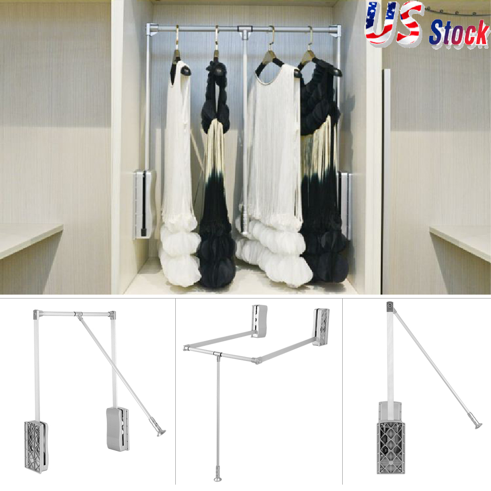 system rod large id down closet for with introduction dual rods pull
