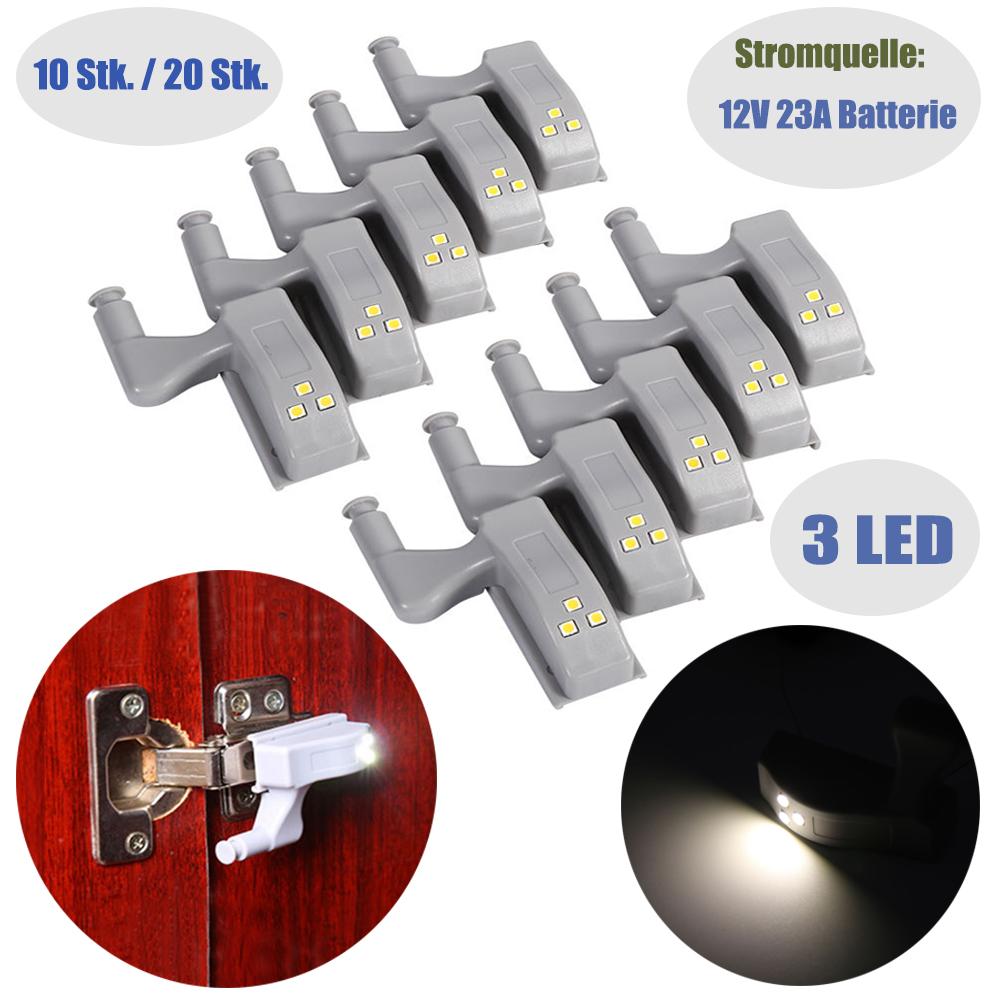10x / 20x LED Schrank Lampe Küchenschrank Licht Kleiderschrank ...