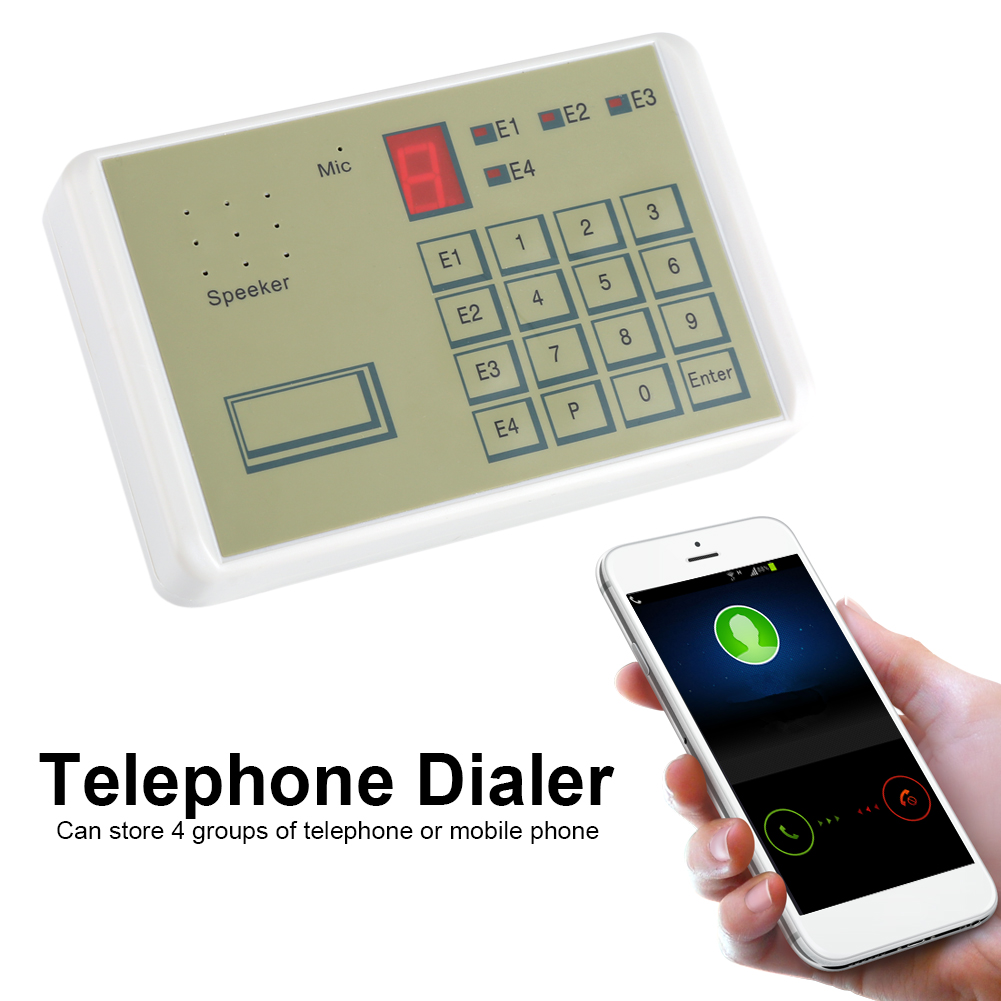 Details about 12V 20S Wired Telephone Voice Auto-dialer Burglar Security  Home Alarm System