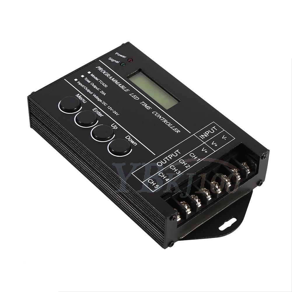 DC12-24V 20A 5-Channel Plastic Programmable LED Timer Dimmer Controller Digitial