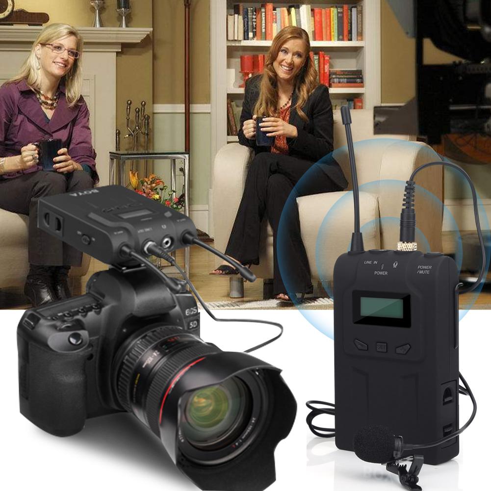 Boya By Wm6 Wireless Microphone System Lavalier For Dslr Cameras Dv M1 Clip On Mic Canon Nikon Sony Camera Kamera Universal Video Camcorder Iphone