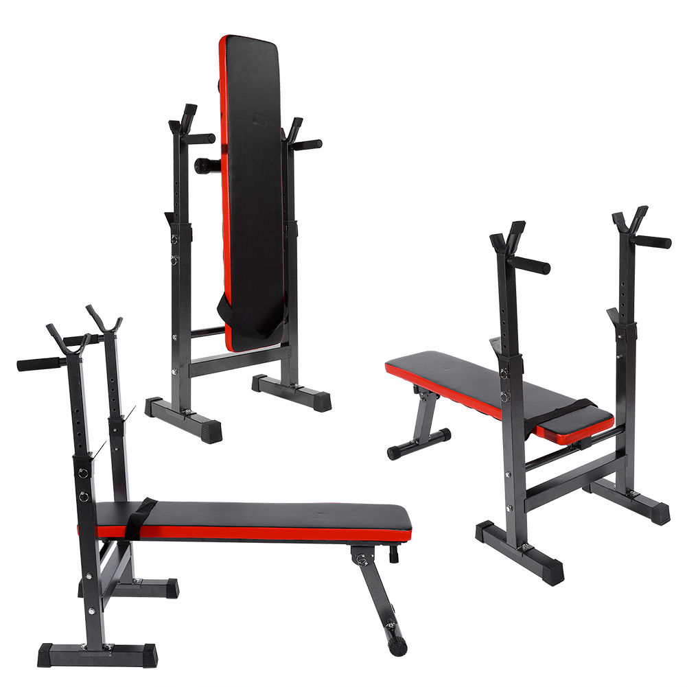 Multi Station Sit Up Weight Bench Barbell Incline Decline