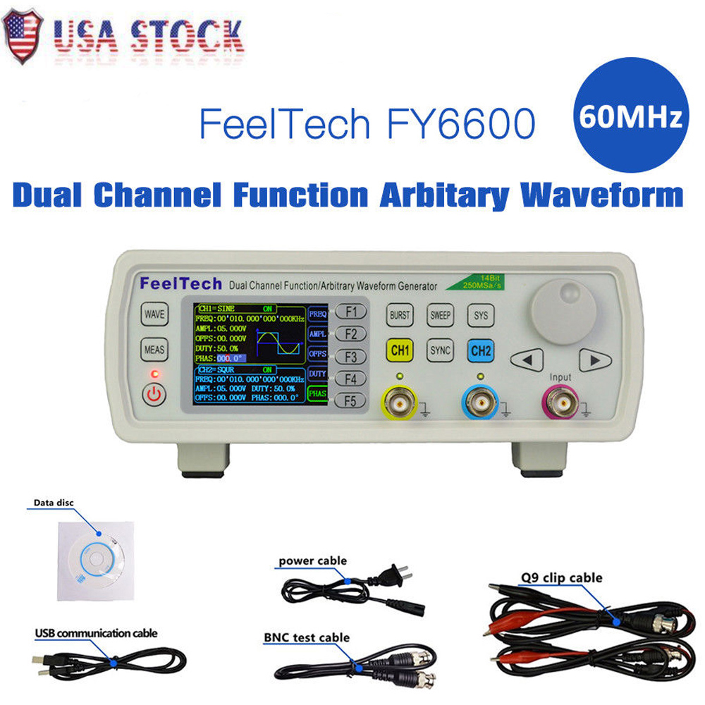 2018 30MHz FeelTech FY6600 DDS Function Arbitrary Waveform Signal Generator VCO
