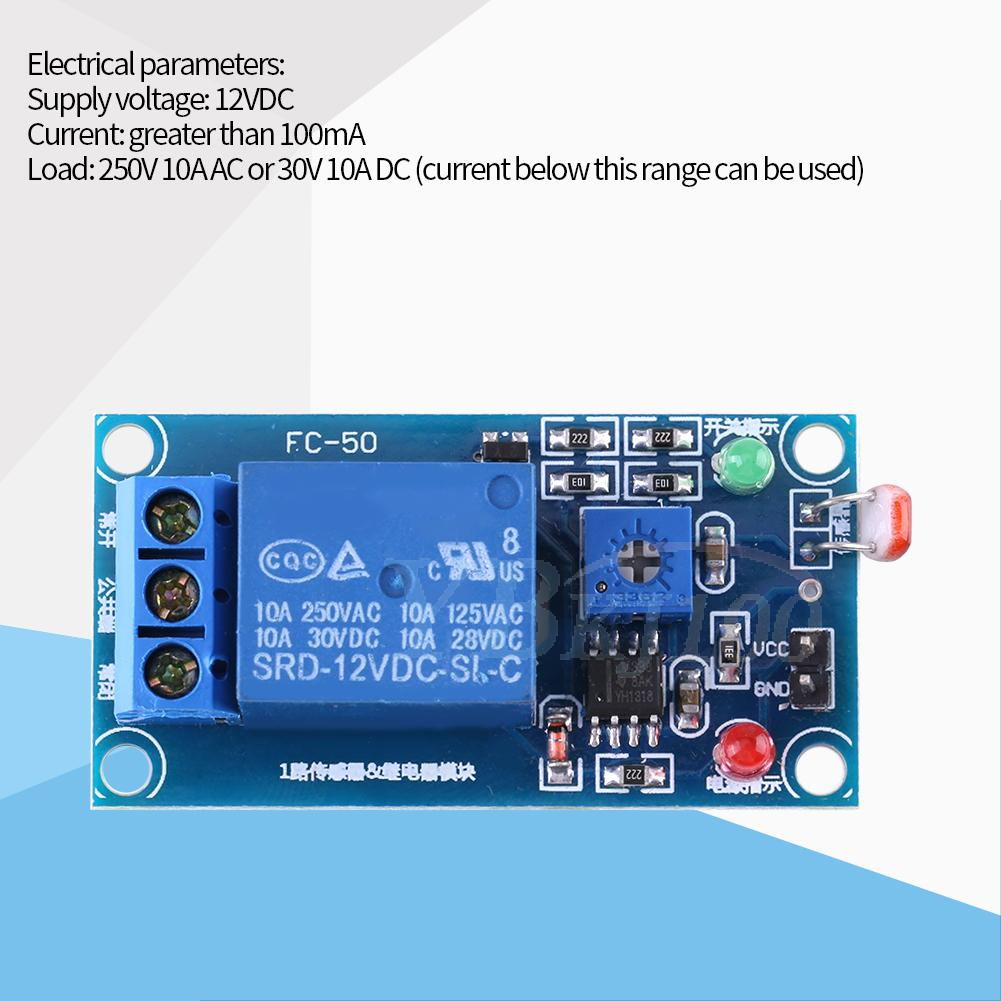12v Photoresistor Ldr Relay Module Street Light Controllor Switch Picture Of Automatic Switching Lights By Using And Detect Sensor
