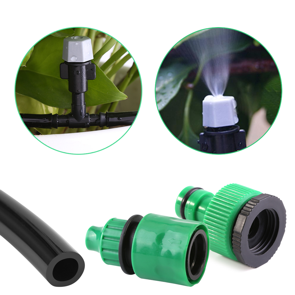 Greenhouse Misting System Kits : Garden patio water misting cooling system sprinkler nozzle