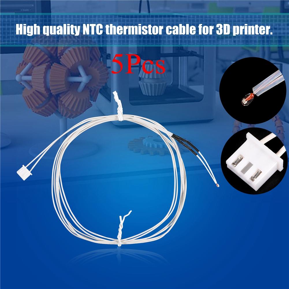 5PCS 3D Printer Parts 100K ohm NTC 3950 White Thermistors Sensors High TJJ