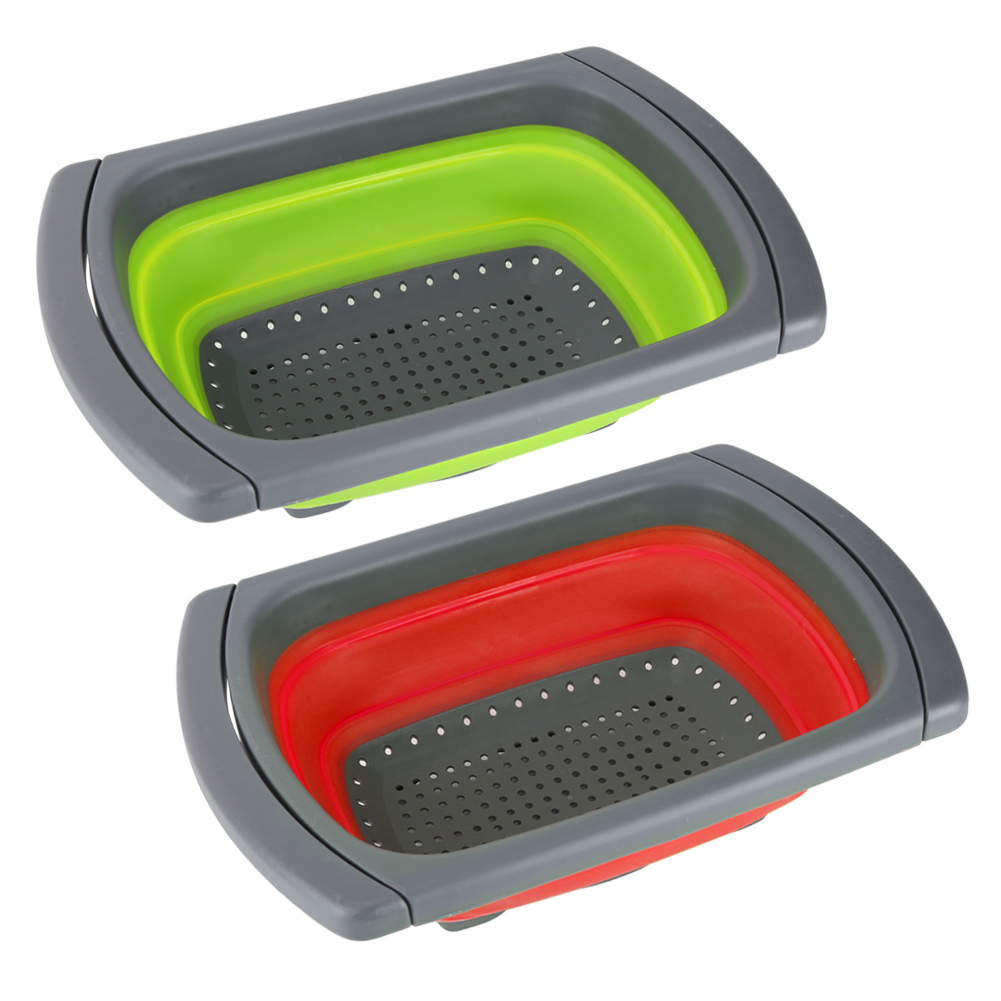 Folding Collapsible Silicone Colander Strainer Kitchen Fruit
