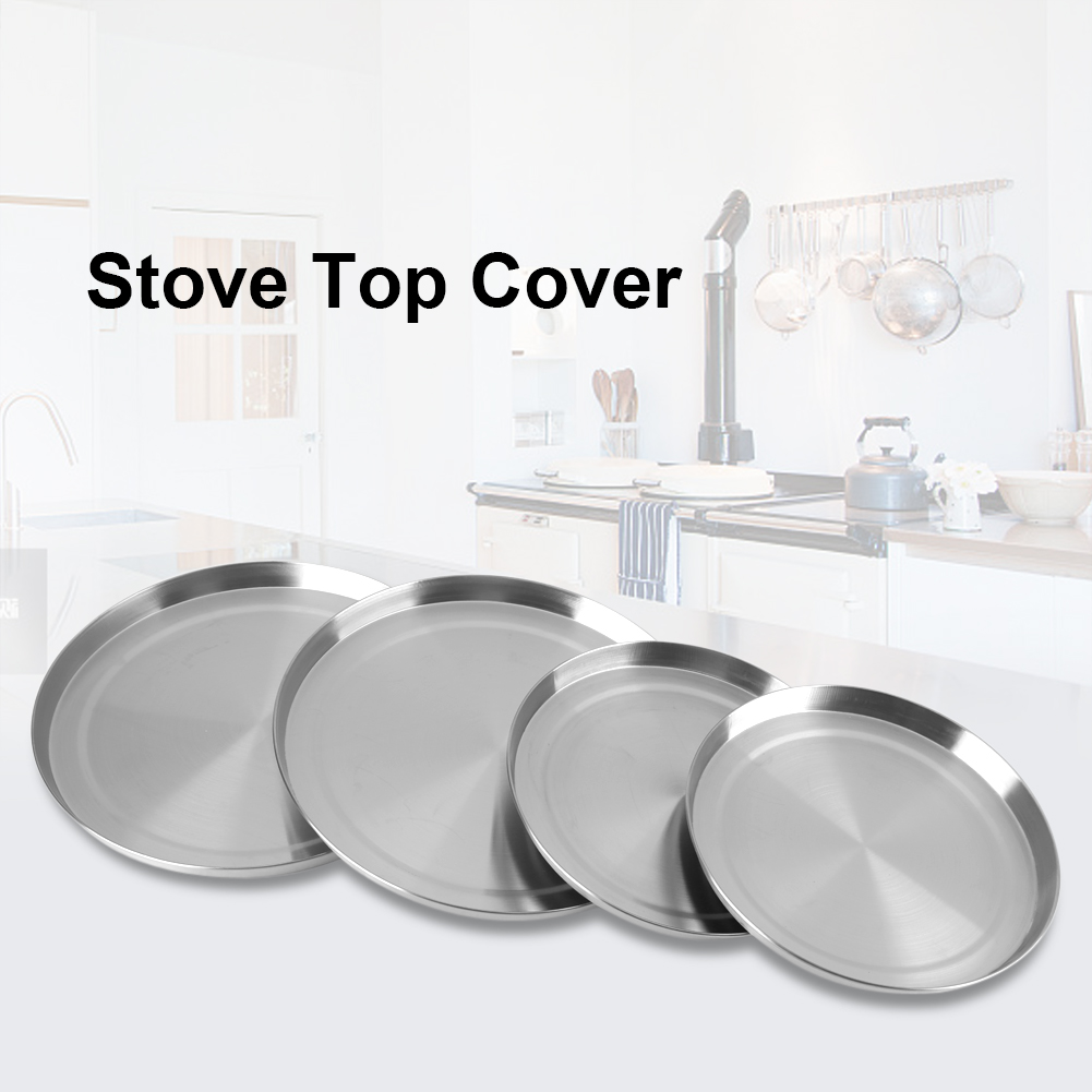 4pcs stainless steel kitchen electric stove top burner cover cooker protection 826963981343 ebay. Black Bedroom Furniture Sets. Home Design Ideas