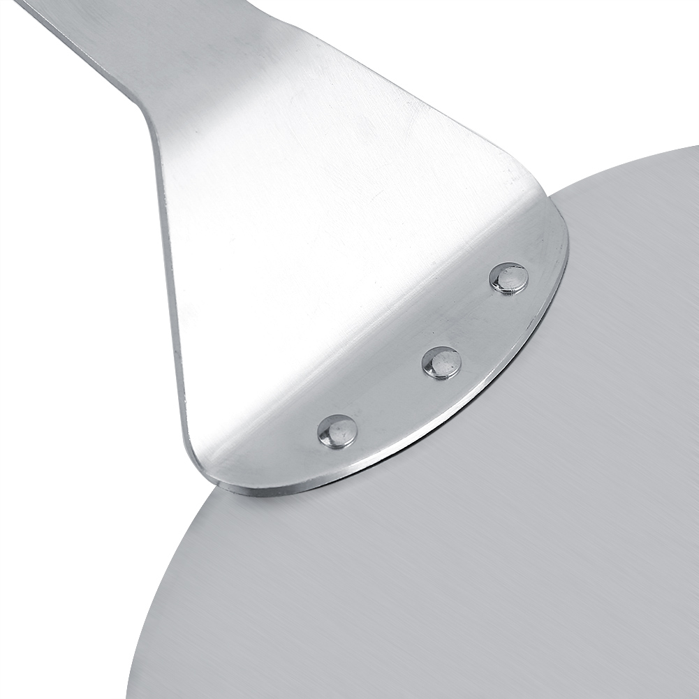 Stainless Steel Pizza Peel Bakers Paddle Spatula Round