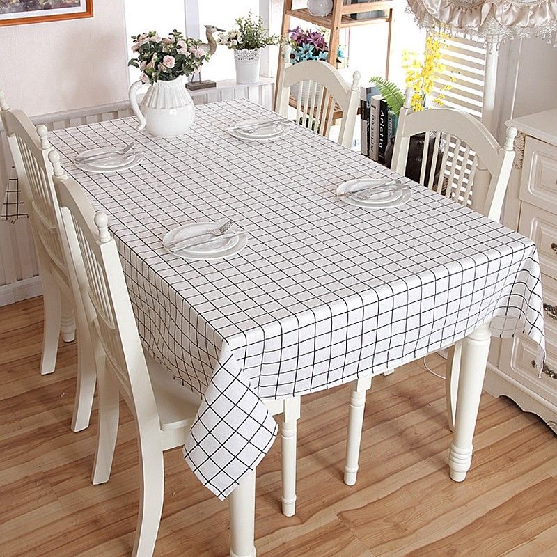 DIY Waterproof Oil Proof Cotton Tablecloth Home Dining