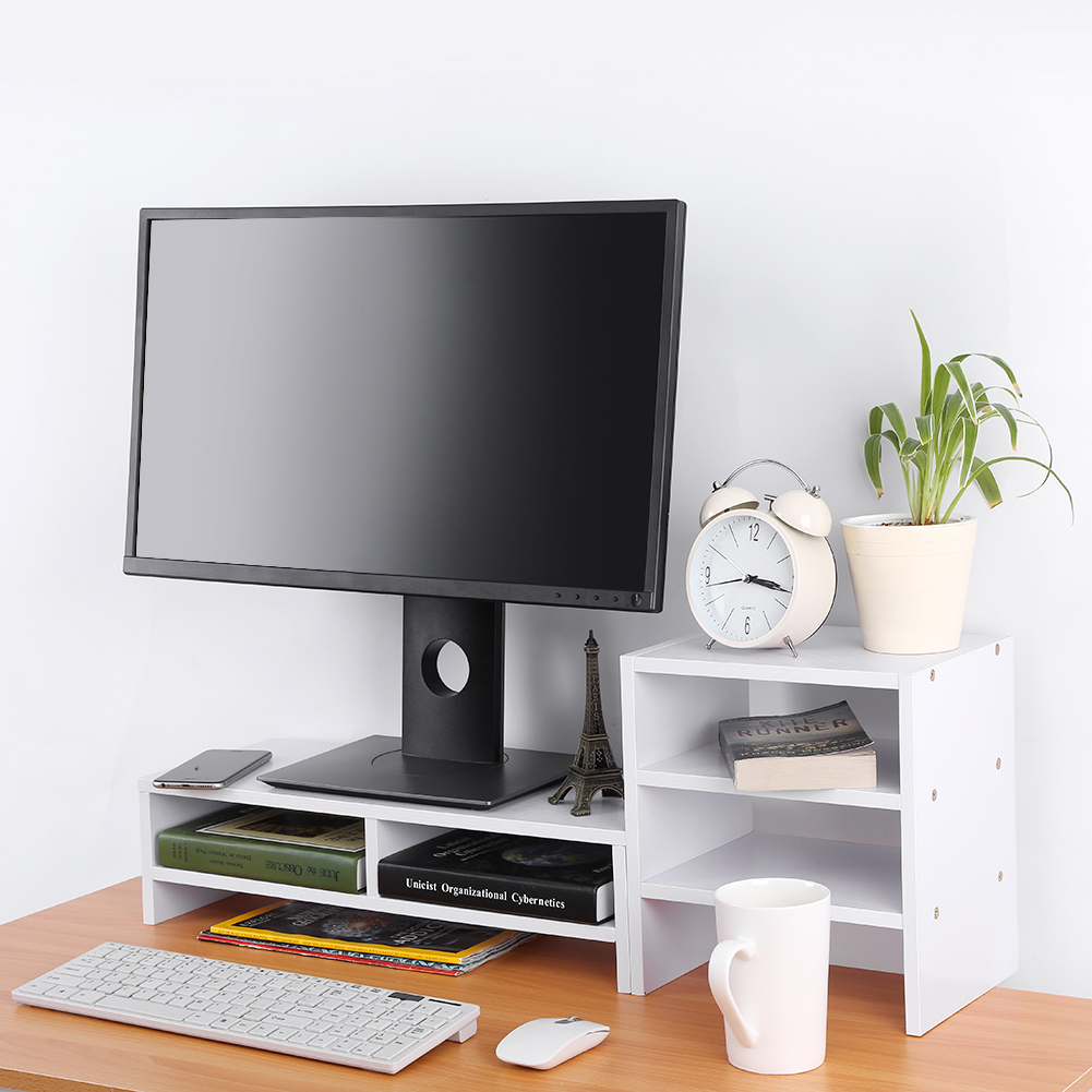 LED LCD Monitor Stand Cradle Desk organizer Office various storages Computer US