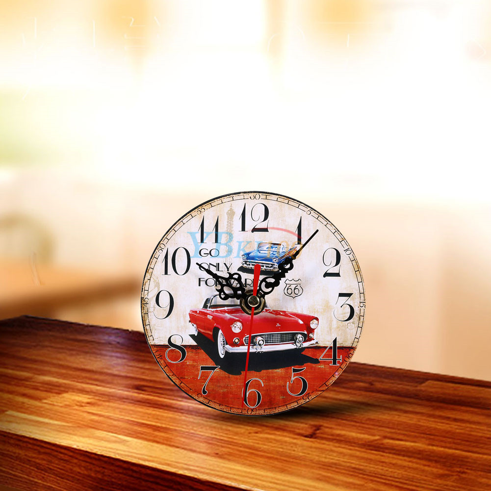 Retro Vintage Style Wooden Round Wall Clocks Home Living Room Office ...