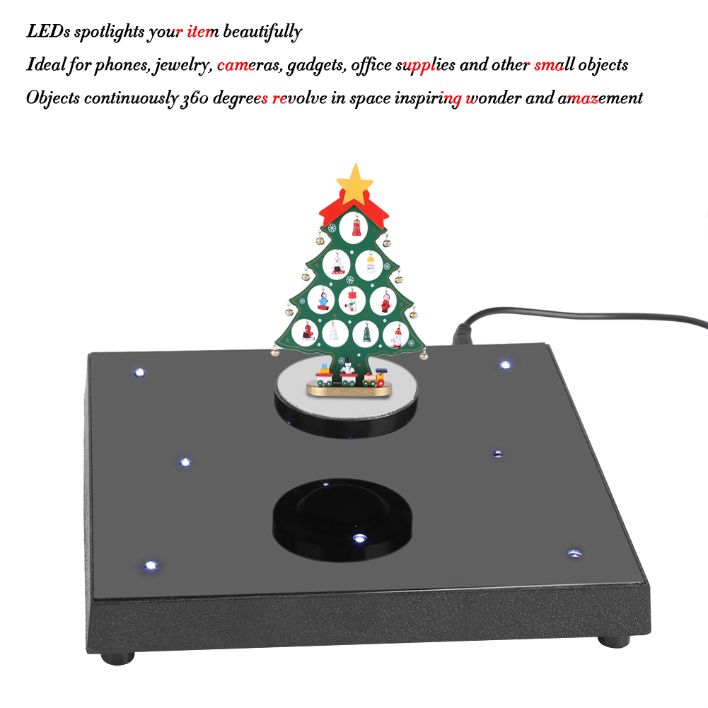 LED Rotating Magnetic Levitation Floating Show Shelf Display Platform 110V-24 SU