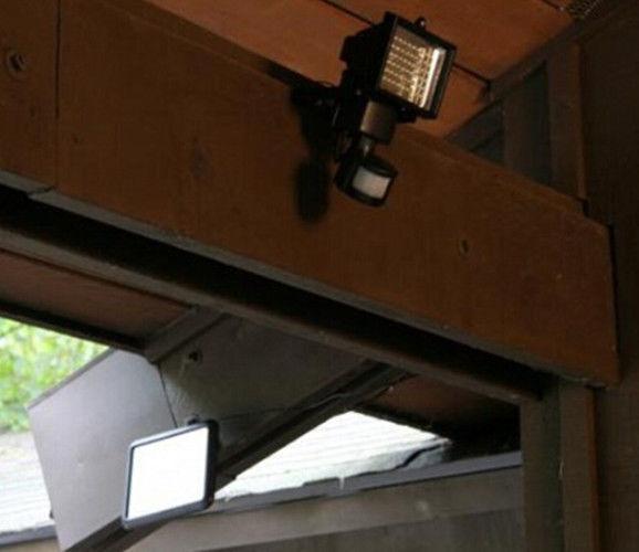 Solar Powered 60 LED Rechargeable PIT Motion Sensor Light