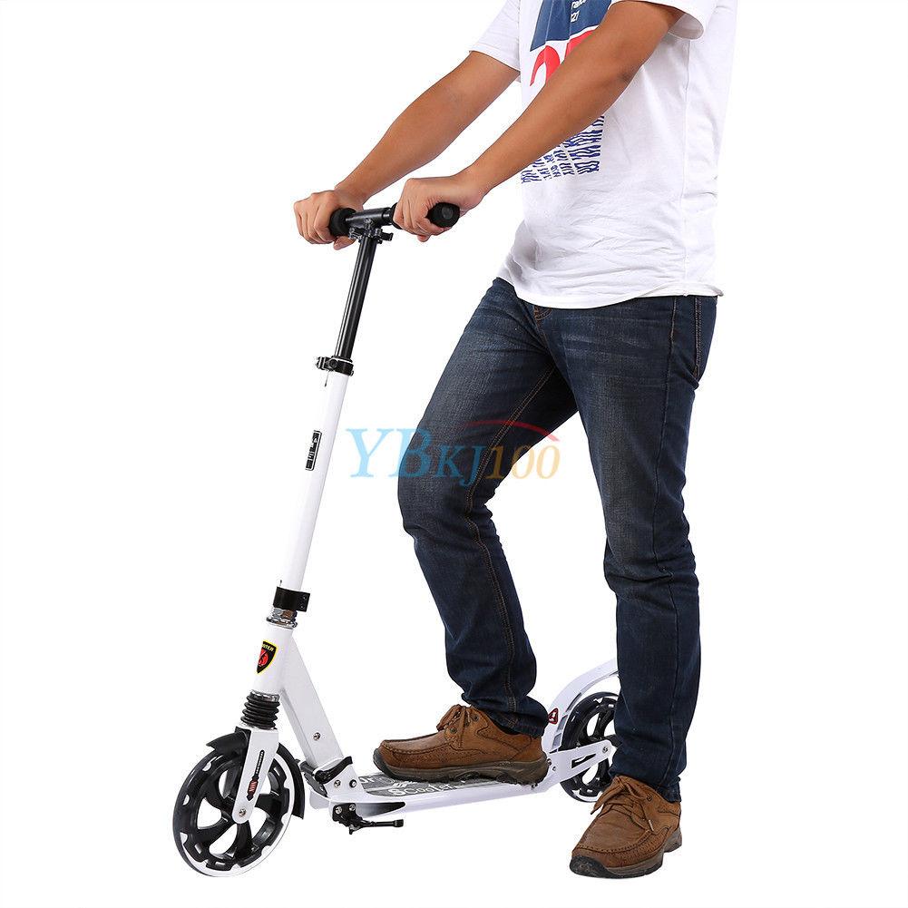 klappbar alu scooter cityroller tretroller faltroller f r. Black Bedroom Furniture Sets. Home Design Ideas