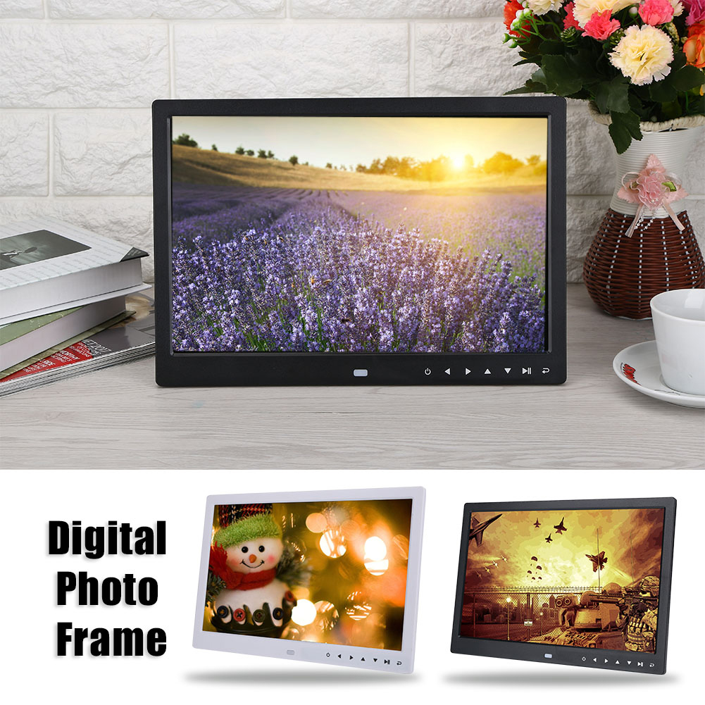 "7/13/15"" HD Digital Photo Frame Album Picture MP4 Movie Player ..."