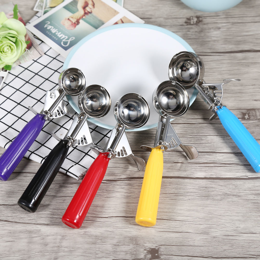 mini stainless steel ice cream scoop scooper cookie dough fruits portioner ebay. Black Bedroom Furniture Sets. Home Design Ideas
