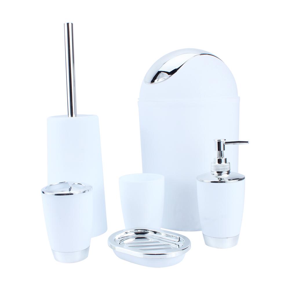 6Pcs Bath Toilet Bathroom Set Soap Toothbrush Holder Dispenser ...