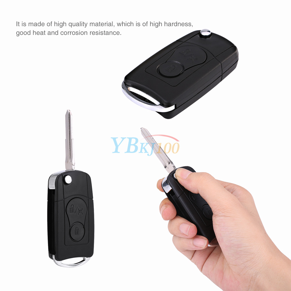 remote flip 2 buttons car key case shell fob for ssangyong actyon rh ebay com au Rexton Hearing Aid Remote Control Siemens Hearing Aids Remote Control