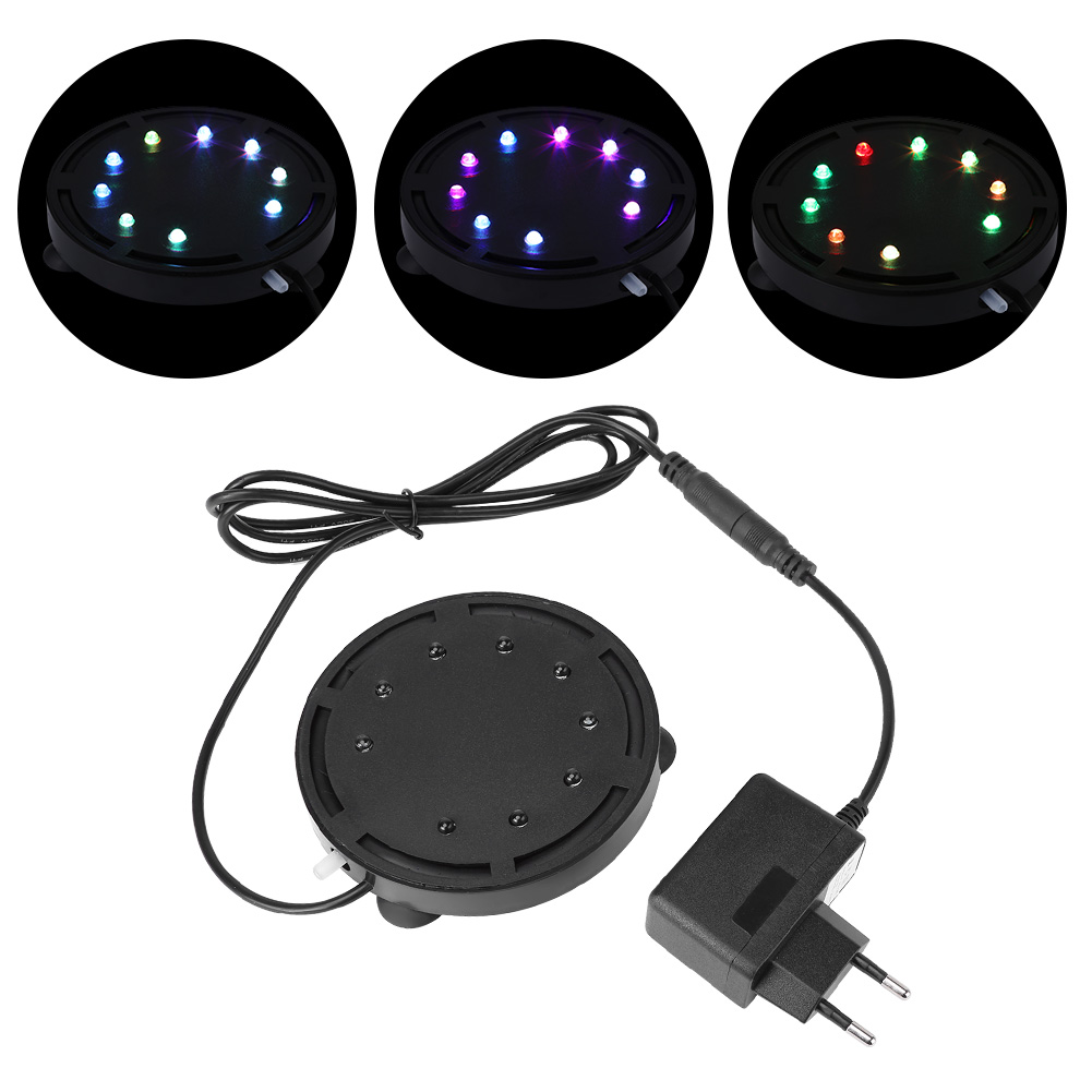 12 Led Light Amp Air Stone Submersible Bubble For Aquarium