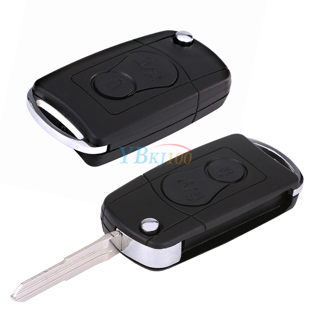 Remote flip 2 buttons car key case shell fob for ssangyong actyon details fandeluxe