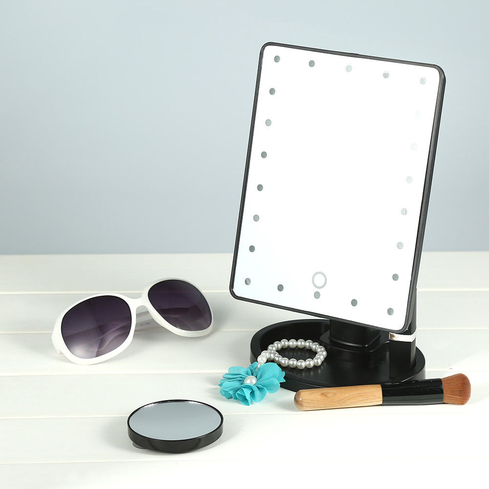 22led schminkspiegel kosmetikspiegel standspiegel 10 fach vergr erungsspiegel ebay. Black Bedroom Furniture Sets. Home Design Ideas