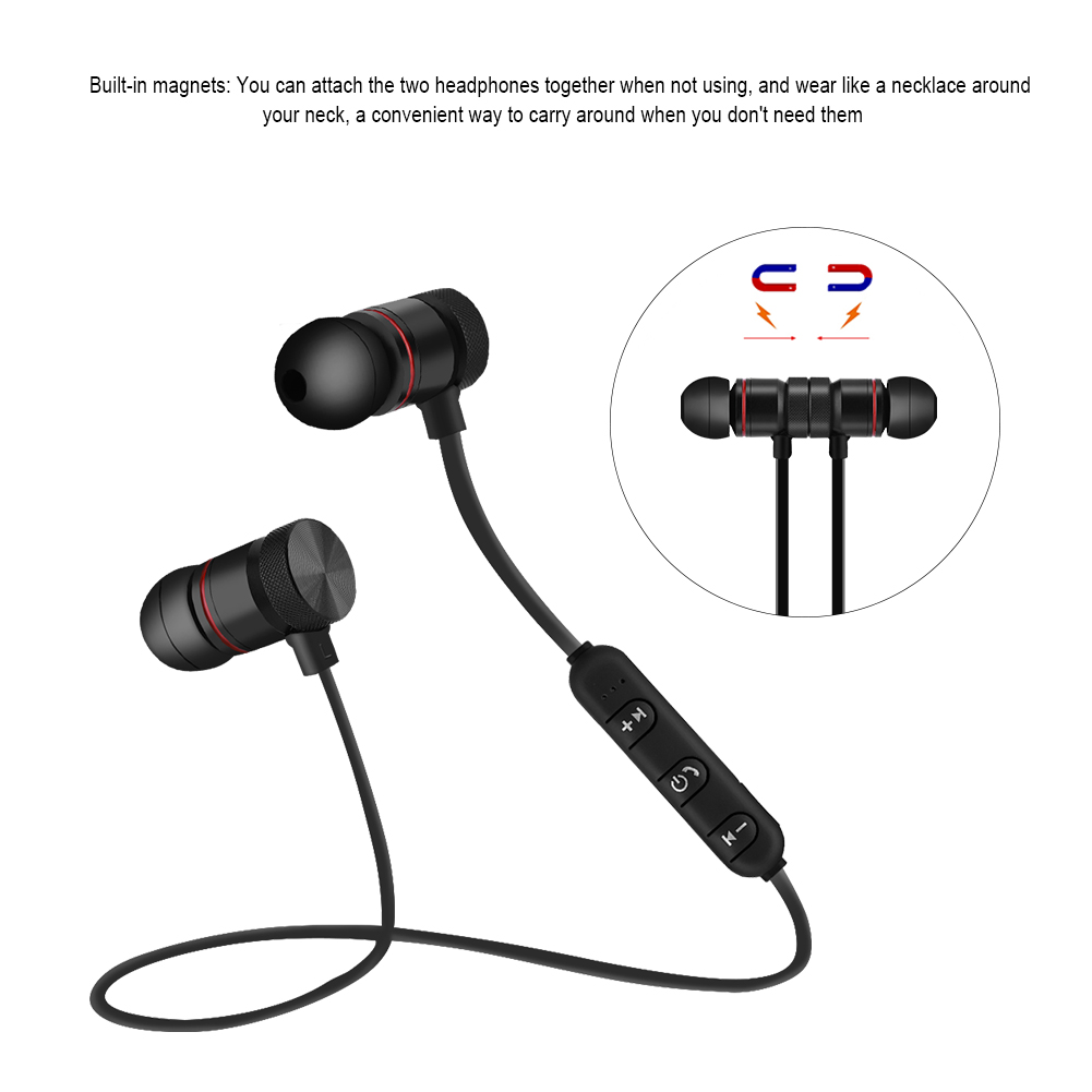 universal magnet wireless bluetooth 4 1 stereo sports. Black Bedroom Furniture Sets. Home Design Ideas