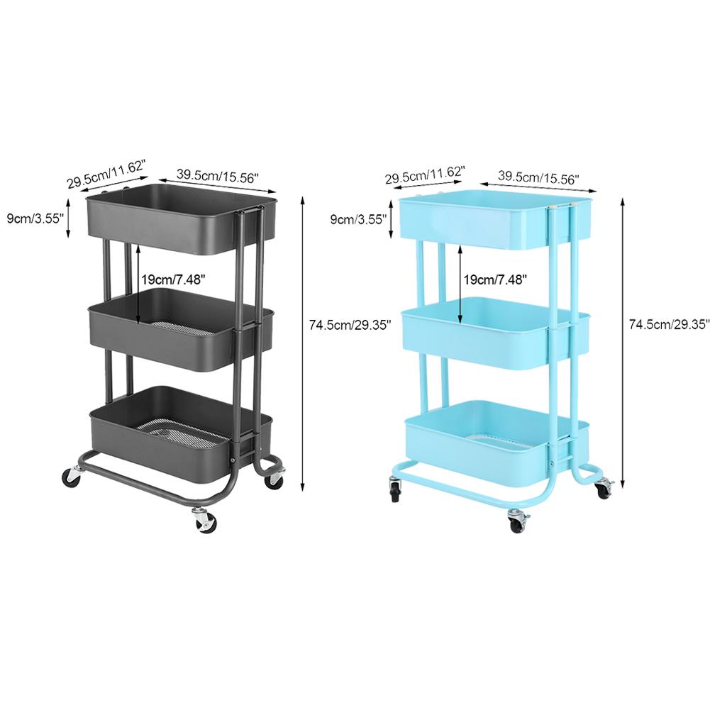 Kitchen Corner Trolley: Trolley Vegetable Kitchen Pantry Rack Storage Cart Food