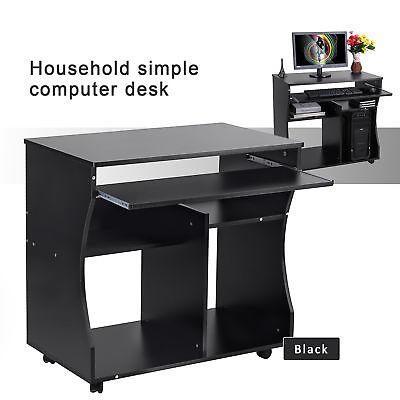 computertisch pc tisch schreibtisch arbeitstisch b rotisch auf rollen kinder al ebay. Black Bedroom Furniture Sets. Home Design Ideas