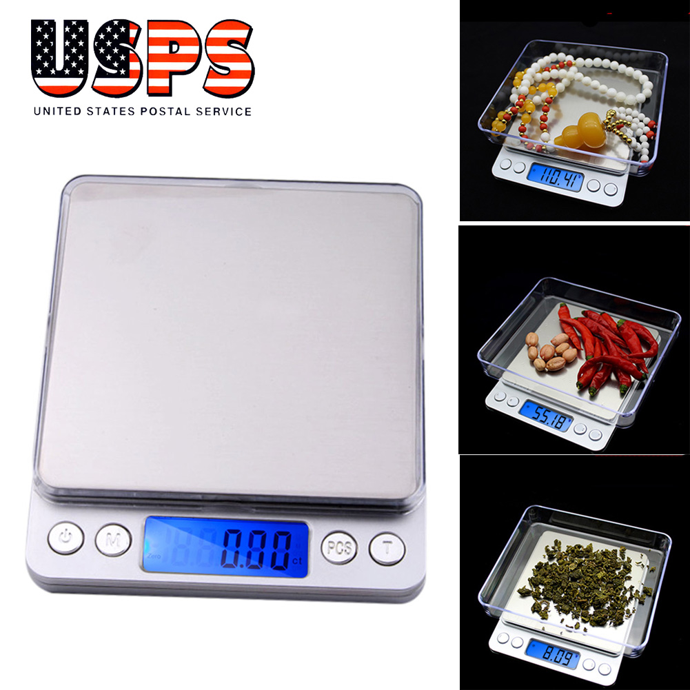 Details about 0.1g - 2000g Gram Mini Digital LCD Balance Weight Pocket Jewelry Diamond Scale