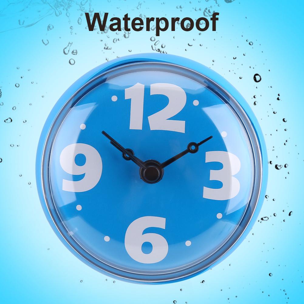 Waterproof Suction Wall Window Mirror Glass Clock Kitchen Bathroom Accessories Ebay