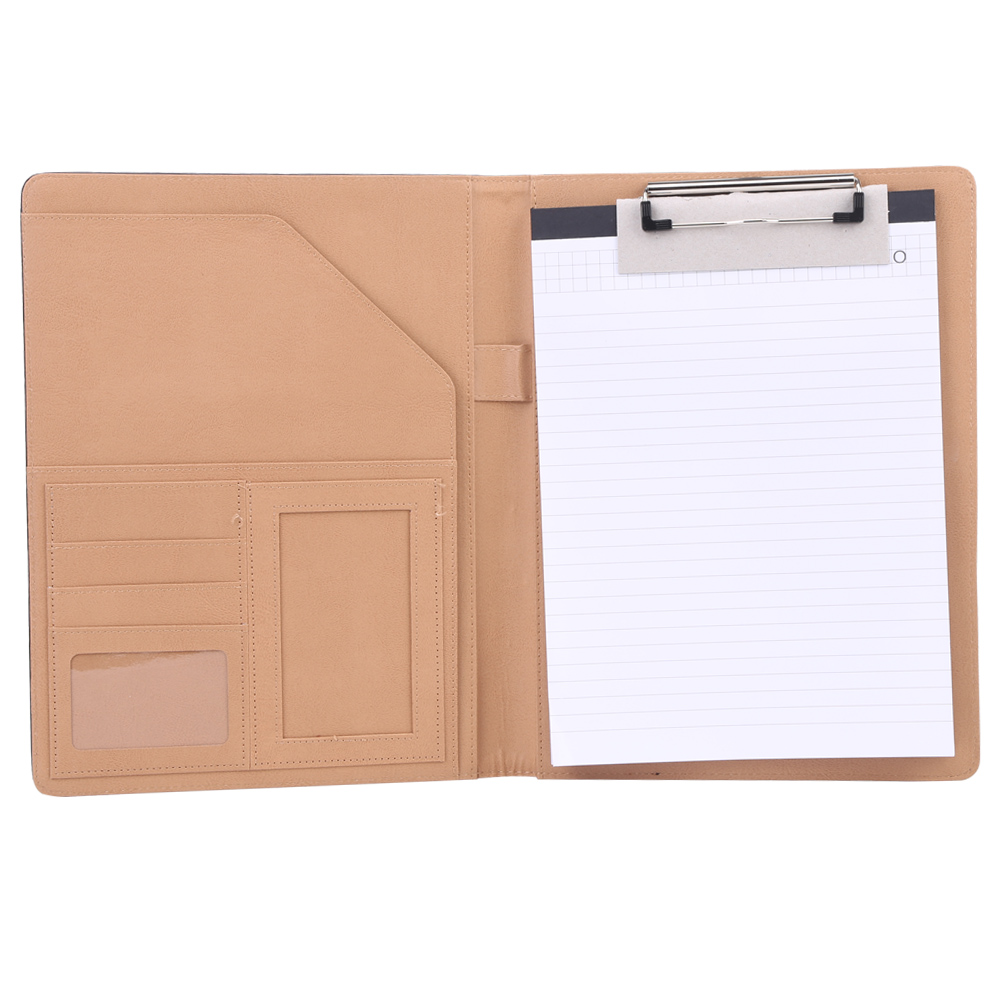 A4 PU Leather Cover Business Document Folder Contracts Organizer ...