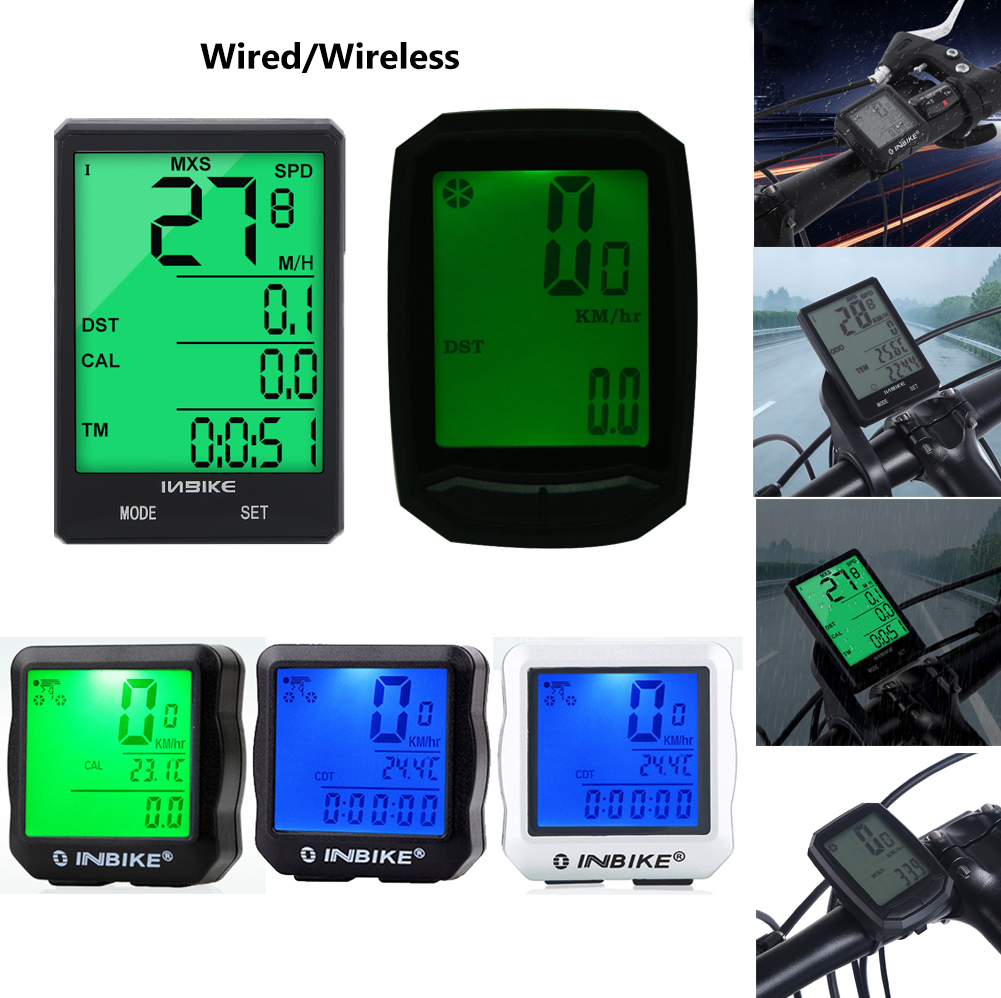 Wired Wireless LCD Bicycle Computer Bike Cycling Odometer Speedometer Waterproof