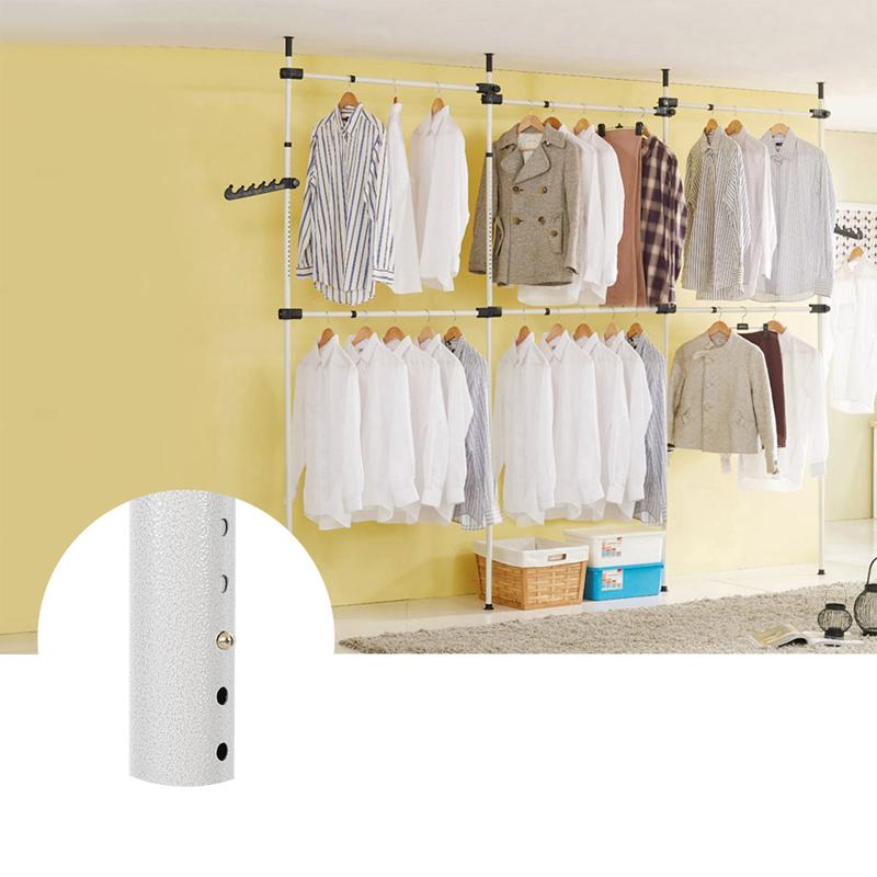 kleiderst nder kleiderstange ankleidezimmer wandregal garderobe mit 6 stange sp ebay. Black Bedroom Furniture Sets. Home Design Ideas