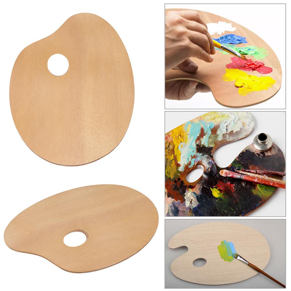 Wooden Artist Palette for Mixing Paint Thumb Hole 30cm x 20cm