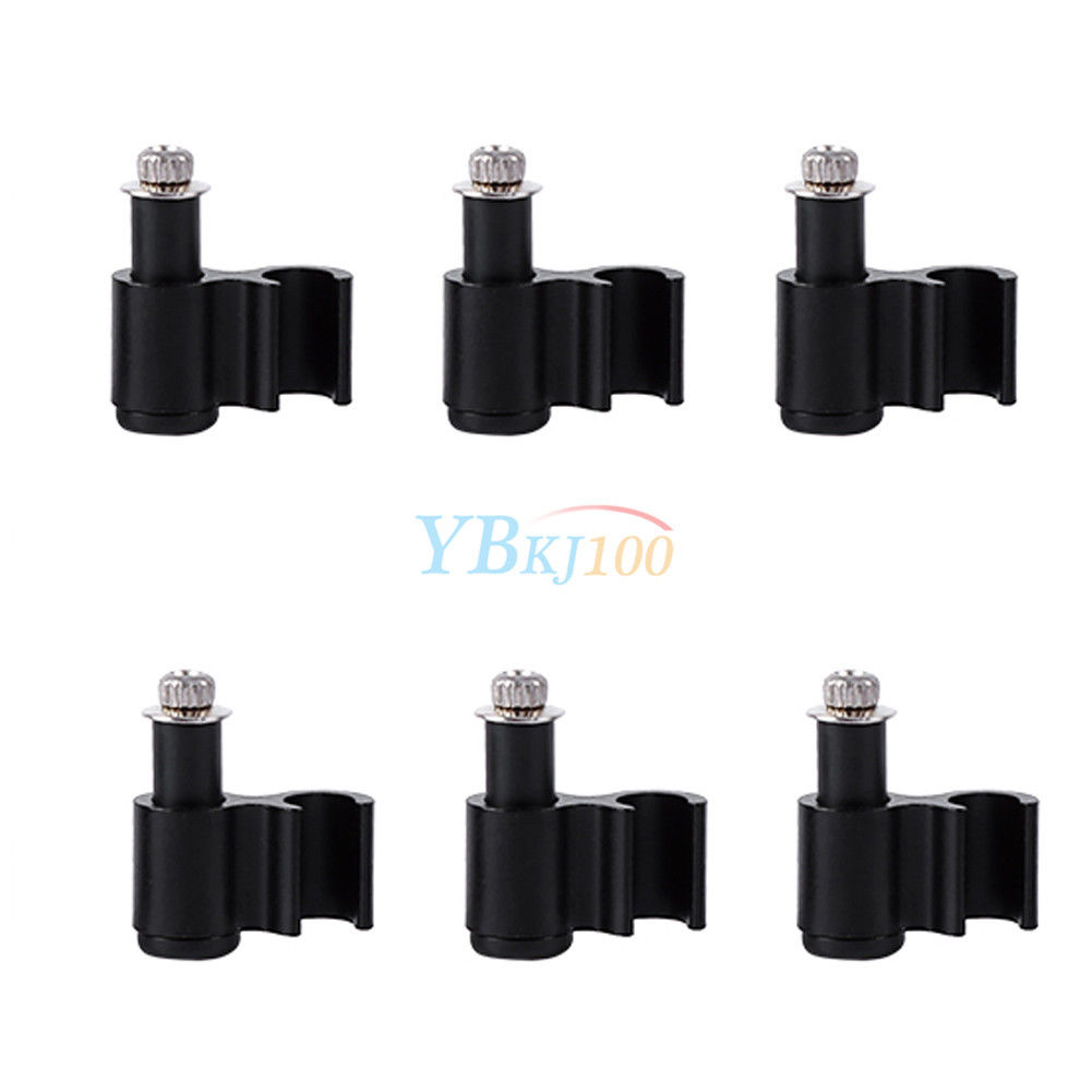 New Bicycle Cable Guide Hydraulic Brake Line Holder Hose Wire Clips Clamps 6PCS