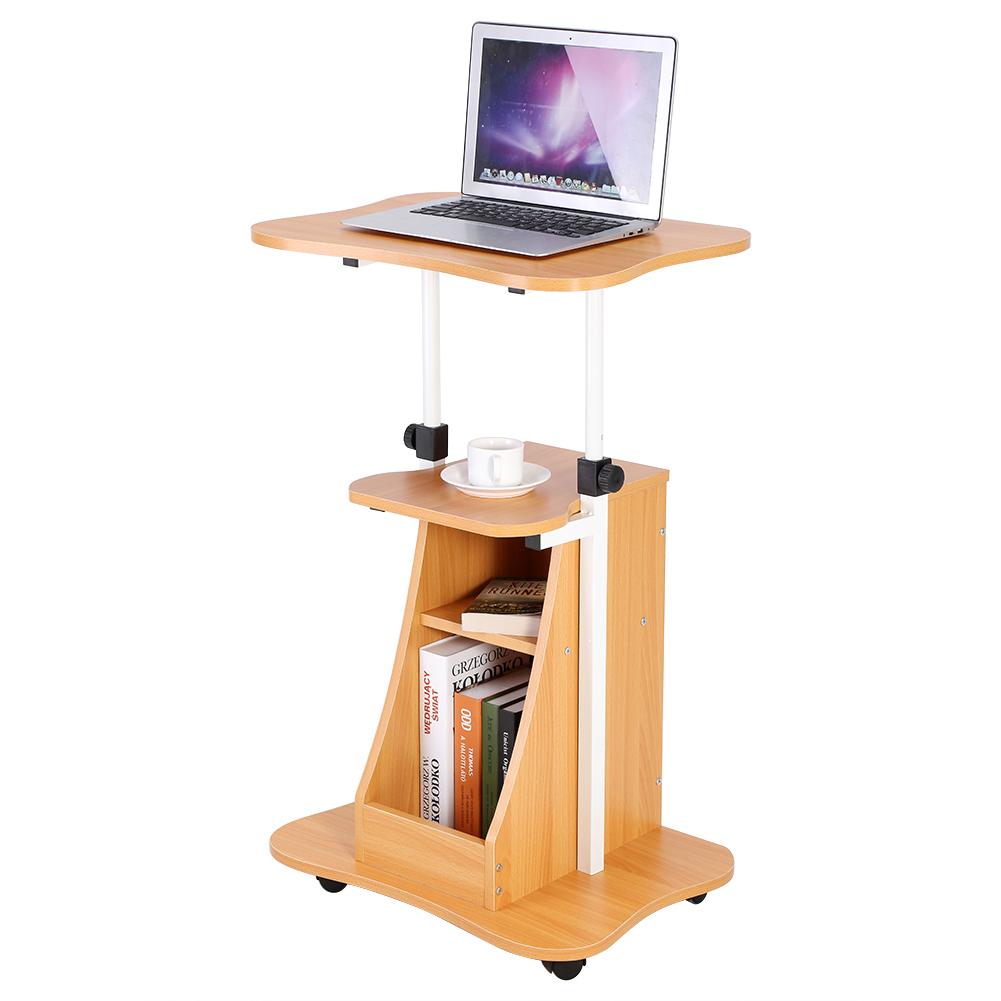 laptop desk cart adjustable amazon portable mobile computer rolling