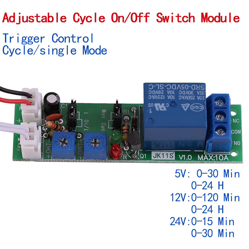 Dc 5  12  24v Adjustable Cycle Trigger Delay Timing Timer