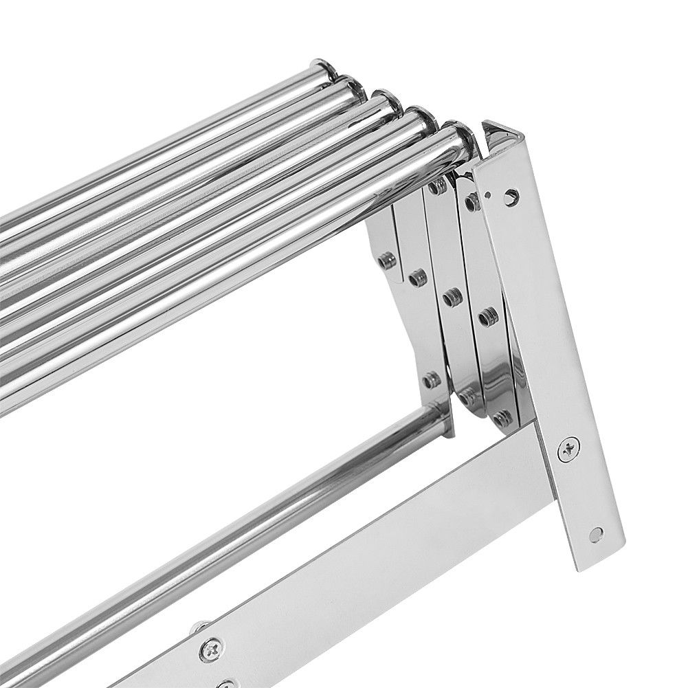 80cm Stainless Steel Clothes Airer Wall Mounted Laundry