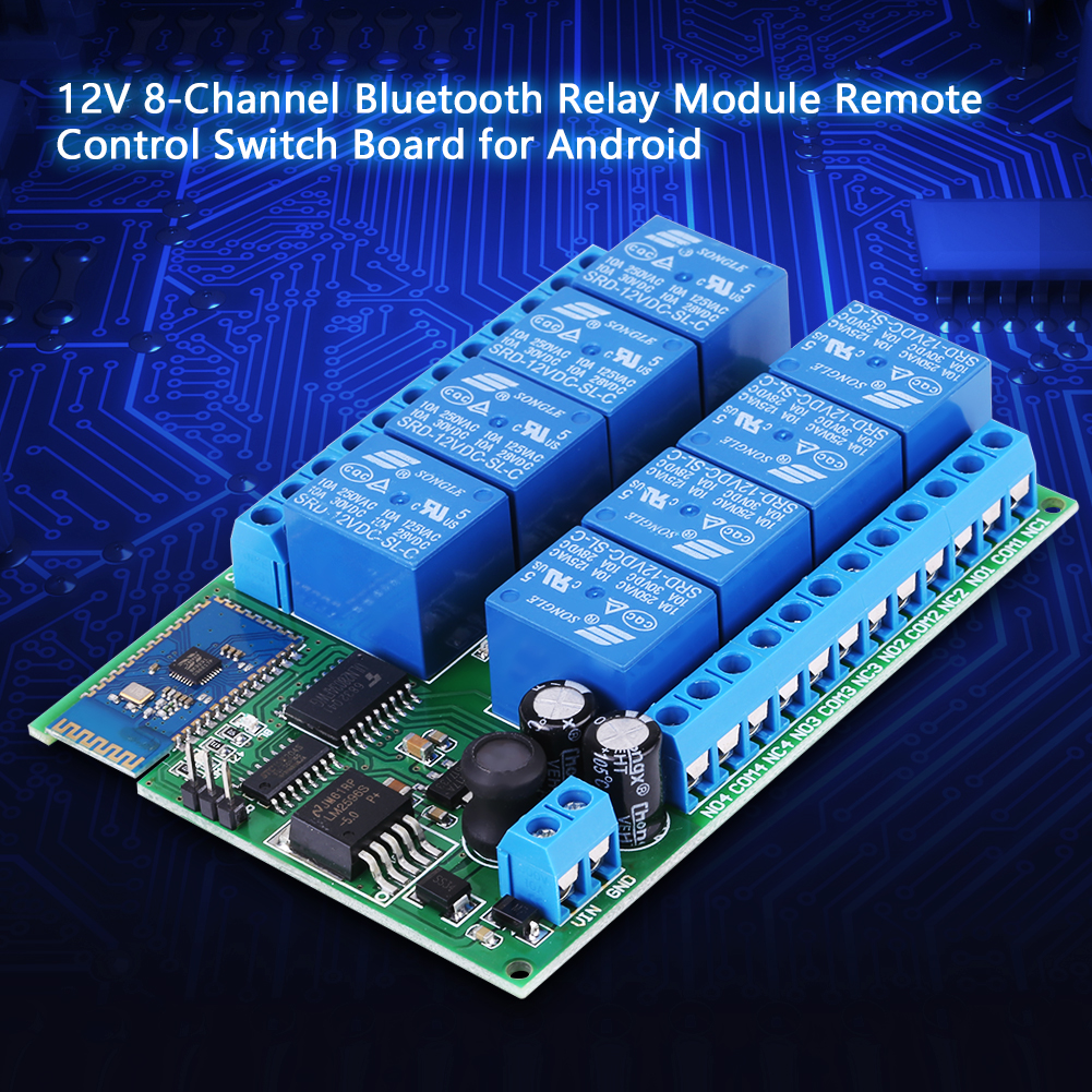Details about DC 12V 8-Channel Bluetooth Relay Module Remote Control Switch  for Android Hot DH