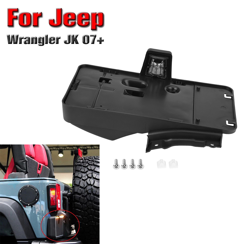 Rear License Plate Bracket Led Light For Jeep Wrangler Jk