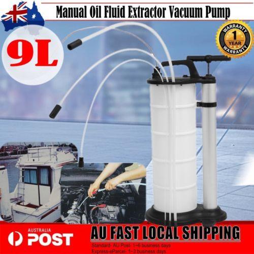 NEW 9L Manual Oil Suction Fluid Extractor Vacuum Pump Car Diesel Fuel Hand Pump