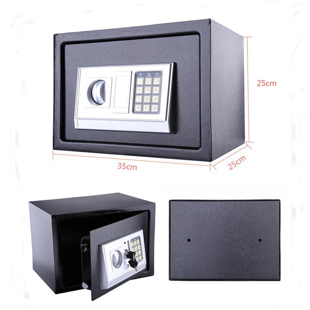 35x25x25cm elektronisch zahlenschloss wandtresor wandsafe safe mit notschl ssel ebay - Wandtresor mit zahlenschloss ...